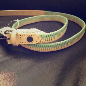 Jessica Simpson genuine bonded leather skinny belt